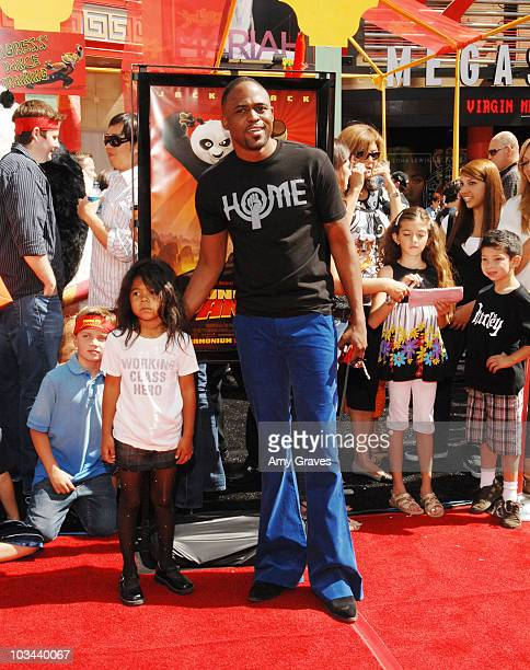 Wayne Brady and daughter attend the Los Angeles Premiere of Dreamworks' Kung Fu Panda at Grauman's Chinese Theatre on June 1 2008 in Hollywood...