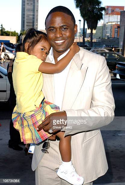 Wayne Brady and Daughter during Wicked Los Angeles Opening Night Arrivals at The Pantages Theatres in Los Angeles California United States