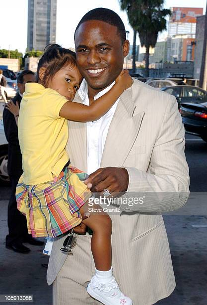Wayne Brady and daughter Maile during Wicked Los Angeles Opening Night Arrivals at The Pantages Theatres in Los Angeles California United States