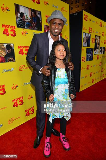 Wayne Brady and daughter Maile Masako Brady attend Relativity Media's Movie 43 Los Angeles Premiere held at the TCL Chinese Theatre on January 23...