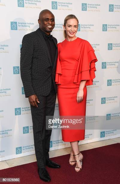 Wayne Brady and Emily Blunt attend the 11th Annual American Institute for Stuttering Freeing Voices Changing Lives Benefit Gala at Guastavino's on...