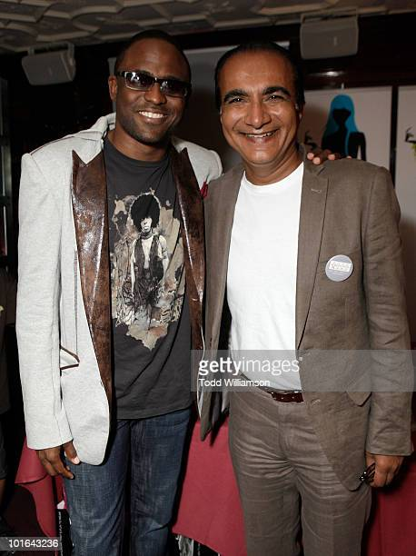 Wayne Brady and Iqbal Theba attend the Melanie Segal's Celebrity SOS Lounge at House of Blues Sunset Strip on June 4 2010 in West Hollywood California