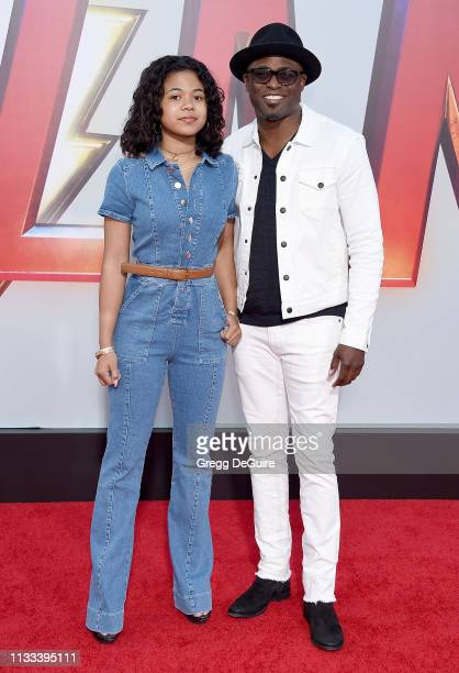 Wayne Brady and Maile Masako Brady attend Warner Bros Pictures And New Line Cinema's World Premiere Of SHAZAM at TCL Chinese Theatre on March 28 2019...