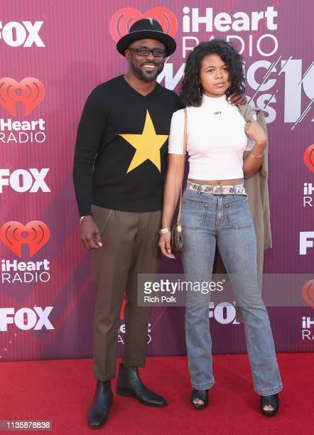 Wayne Brady and Maile Masako Brady attends the 2019 iHeartRadio Music Awards which broadcasted live on FOX at Microsoft Theater on March 14 2019 in...