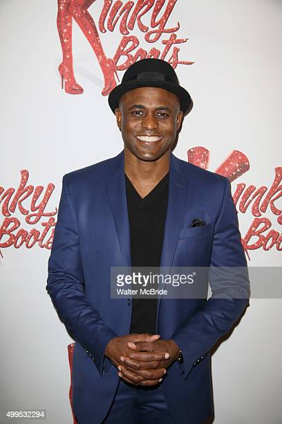 Wayne Brady attends the Opening Night Press Reception for Wayne Brady opening in 'Kinky Boots' at the Paramount Bar and Grill on December 1 2015 in...