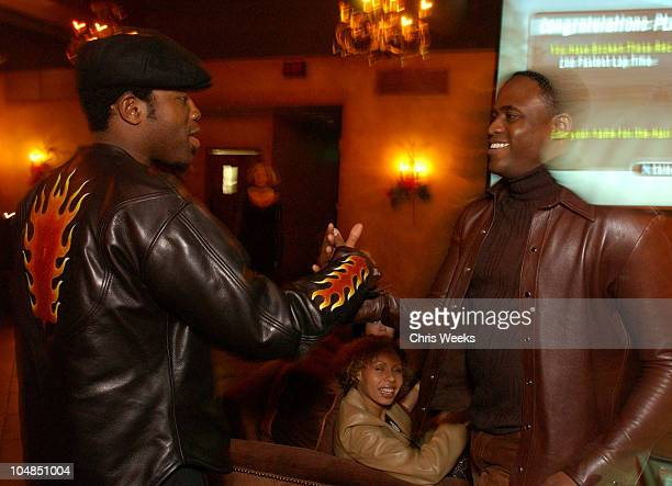 Wayne Brady Kadeem Hardison during Wayne Brady Hosts Holiday PlayStation 2 Gaming Party at The Highlands in Hollywood California United States