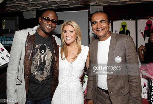 Wayne Brady Melanie Segal and Iqbal Theba attend the Melanie Segal's Celebrity SOS Lounge at House of Blues Sunset Strip on June 4 2010 in West...