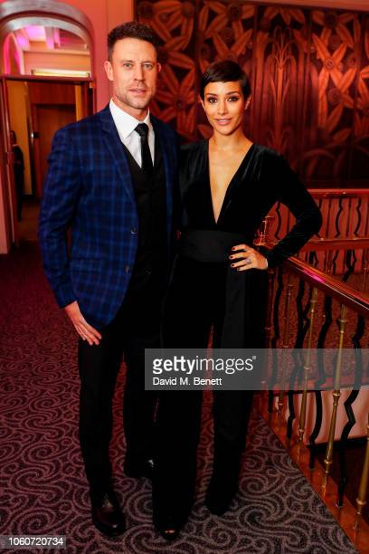 Wayne Bridge and Frankie Bridge at the British Takeaway Awards 2018 in association with Just Eat at The Savoy Hotel on November 12 2018 in London...