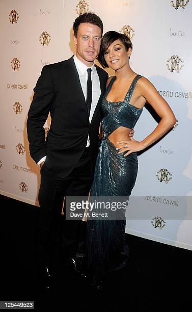 Wayne Bridge and Frankie Sandford attend an after party celebrating Roberto Cavalli's new Sloane Street boutique at Battersea Power Station on...