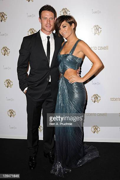 Wayne Bridge and Frankie Sandford attend the after party of of Roberto Cavalli's new store launch on September 17 2011 in London United Kingdom