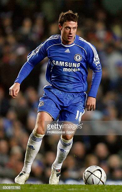 Wayne Bridge of Chelsea in action during the Chelsea v Liverpool Carling Cup Match at Stamford Bridge Stadium London UK on 19th December 2007