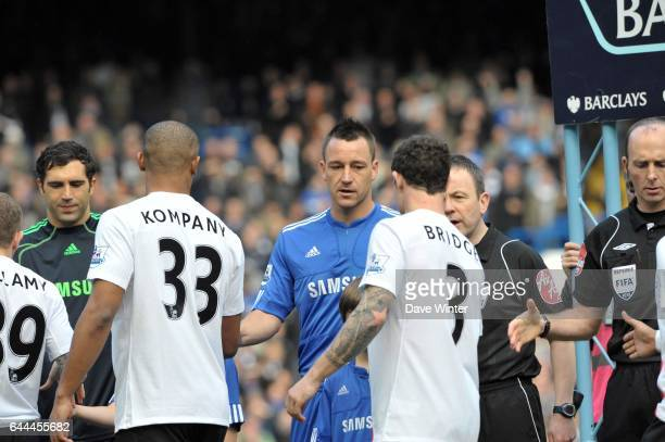 Wayne BRIDGE refuse de serrer la main de John TERRY Chelsea / Manchester City 28e journee Premier league Photo Dave Winter / Icon Sport