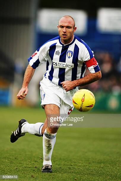 Wayne Brown of Colchester United in action during the Coca-Cola League One match between Colchester United and Luton Town at Layer Road on January...