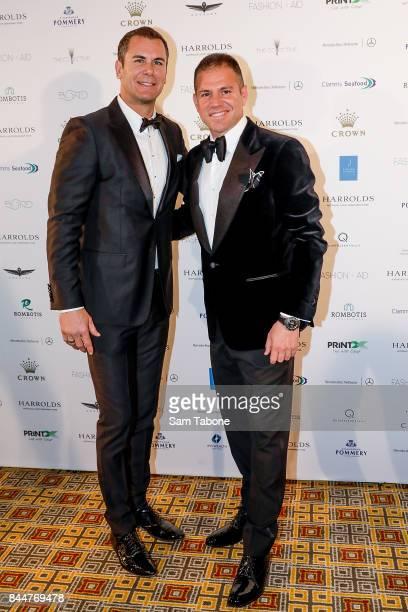 Wayne Carey and John Rombotis attends Fashion Aid 2017 at Crown Palladium on September 9 2017 in Melbourne Australia