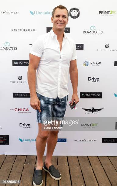 Wayne Carey arrives at the Fashion Aid Twilight Beach Polo on February 16 2018 in Melbourne Australia