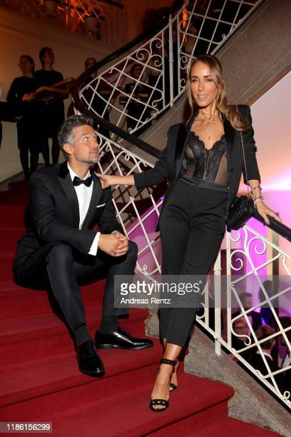 Wayne Carpendale and Annemarie Carpendale arrive for the 21st GQ Men of the Year Award at Komische Oper on November 07 2019 in Berlin Germany