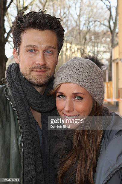 Wayne Carpendale and Annemarie Warnkross attend the 35 years anniversary of the tv show 'Soko 5113' on January 30 2013 in Munich Germany