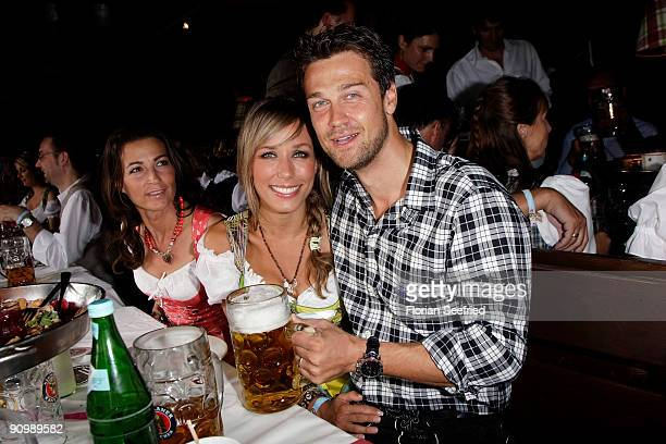 Wayne Carpendale and girlfriend Annemarie Warnkross attend the Oktoberfest 2009 at Kaefer Schaenke at the Theresienwiese on September 20 2009 in...