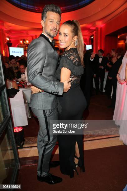 Wayne Carpendale and his pregnant wife Annemarie Carpendale during the German Film Ball 2018 party at Hotel Bayerischer Hof on January 20 2018 in...