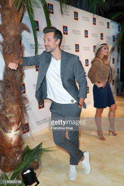 Wayne Carpendale and Jana Julie Kilka during the Aldi Sued x Michelle Hunziker Beachwear collection presentation at Haus der Kunst on May 28 2019 in...