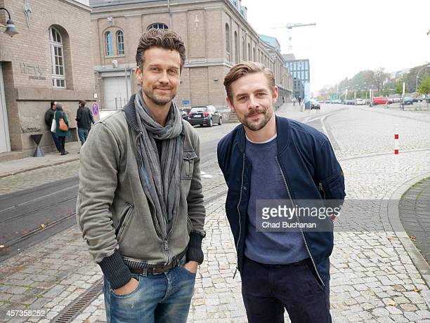 Wayne Carpendale and Klaas HeuferUmlauf sighted at Sat1 television studios on October 17 2014 in Berlin Germany