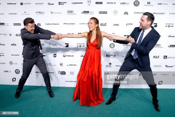 Wayne Carpendale Annemarie Carpendale and Matthias Killing during the GreenTec Awards at ewerk on May 12 2017 in Berlin Germany