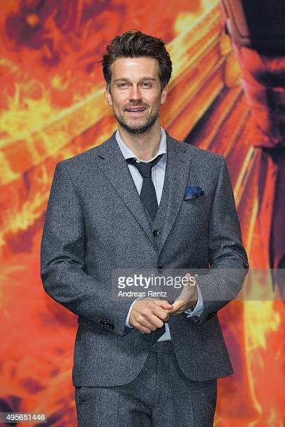 Wayne Carpendale attends the world premiere of the film 'The Hunger Games Mockingjay Part 2' at CineStar on November 4 2015 in Berlin Germany