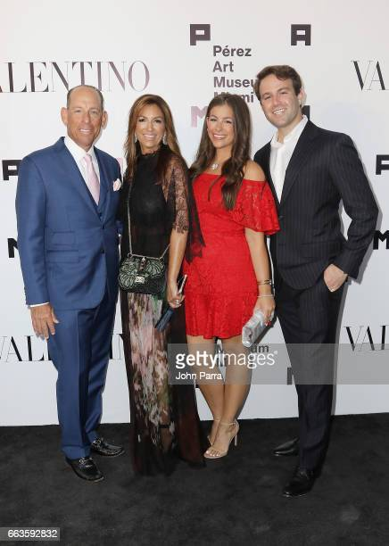 Wayne Chaplin Arlene Chaplin Jennifer Chaplin and Sean Tolkin at PAMM Art Of The Party Presented By Valentino at Perez Art Museum Miami on April 1...