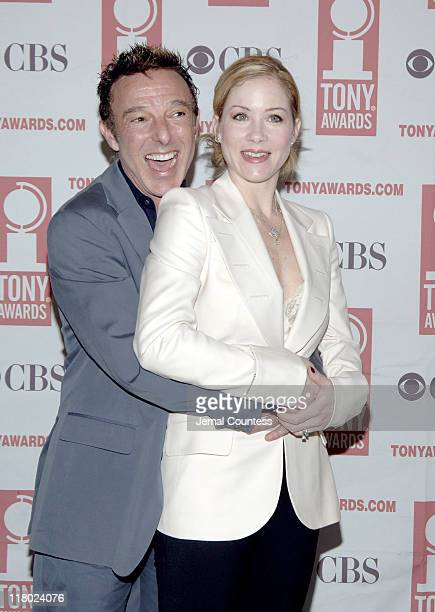 Wayne Cilento and Christina Applegate during 59th Annual Tony Awards 'Meet The Nominees' Press Reception at The View at The Marriot Marquis in New...