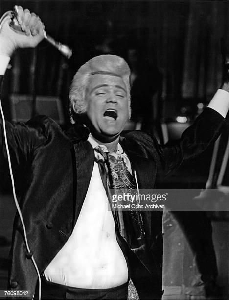 1960s: Wayne Cochran performs circa the late-1960s in Las Vegas, Nevada.