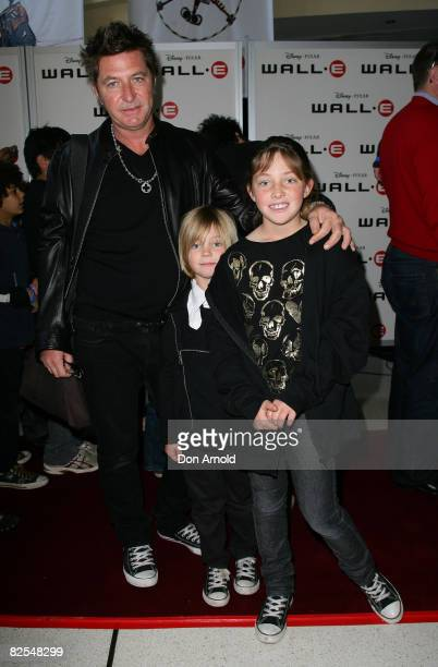 Wayne Cooper with children Ruby and Jude attend the Australian premiere of WALL.E at the Hoyts Cinema in the Entertainment Quarter on August 24, 2008...