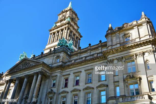 wayne county courthouse detroit, michigan, usa - detroit michigan stock pictures, royalty-free photos & images