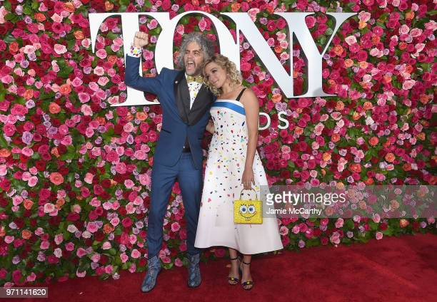 Wayne Coyne and Katy Weaver attend the 72nd Annual Tony Awards at Radio City Music Hall on June 10 2018 in New York City