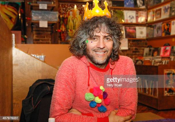 Wayne Coyne attends his Record Store Tour at Grimey's on December 19 2013 in Nashville Tennessee
