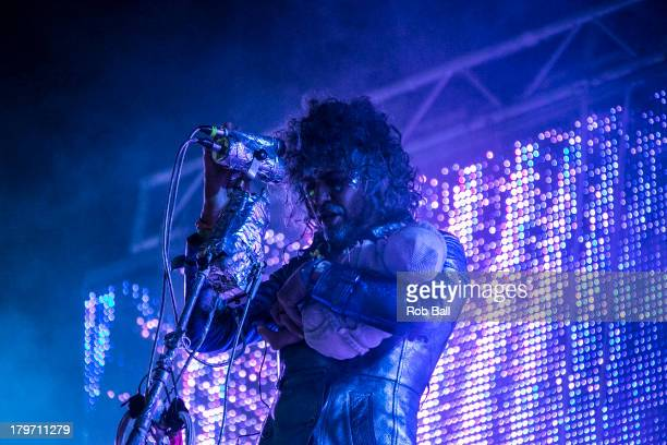 Wayne Coyne from the Flaming Lips performs at Day 2 of Bestival at Robin Hill Country Park on September 6 2013 in Newport Isle of Wight