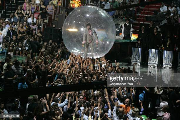 Wayne Coyne of Flaming Lips during 2004 MTV Video Music Awards Show at American Airlines Arena in Miami Florida United States