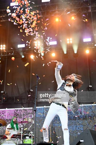 Wayne Coyne of the band The Flaming Lips performs during the 2019 Bourbon Beyond Music Festival at Highland Ground on September 20 2019 in Louisville...