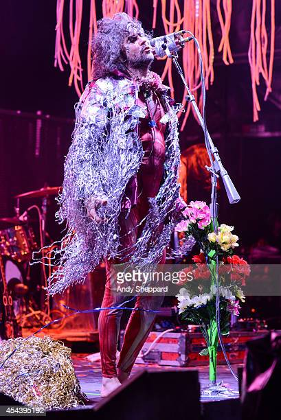 Wayne Coyne of the band The Flaming Lips performs on stage at End Of The Road Festival 2014 at Larmer Tree Gardens on August 30 2014 in Salisbury...