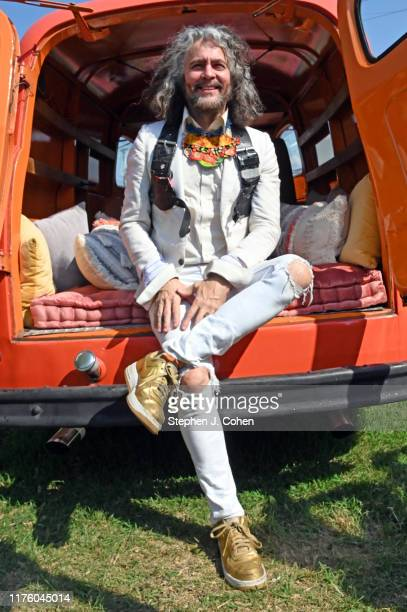 Wayne Coyne of the band The Flaming Lips poses backstage during the 2019 Bourbon Beyond Music Festival at Highland Ground on September 20 2019 in...