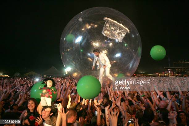 Wayne Coyne of The Flaming Lips during The 2004 Coachella Valley Music Festival The Flaming Lips at Empire Polo Fields in Indio California United...