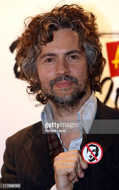 Wayne Coyne of the Flaming Lips during The Brit Awards 2006 with MasterCard Press Room at Earls Court in London Great Britain
