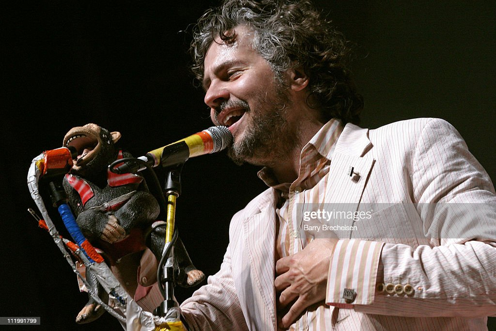 Wayne Coyne of The Flaming Lips during The White Stripes and The Flaming Lips Ring in The New Year Live in Chicago at Aragon Ballroom in Chicago, Illinois, United States.