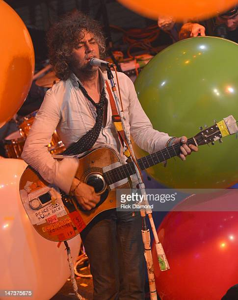 Wayne Coyne of The Flaming Lips on stage during the conclusion of the MTV, VH1, CMT & LOGO O Music Awards at the House of Blues on June 28, 2012 in...