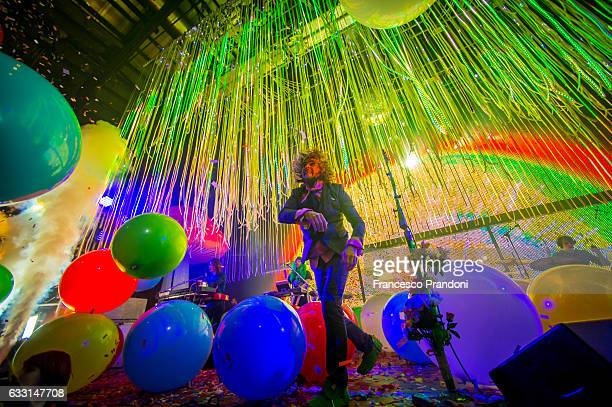 Wayne Coyne of The Flaming Lips Perform on January 30 2017 in Milan Italy