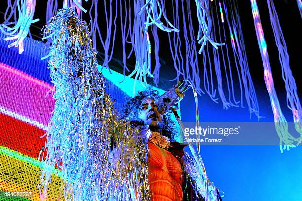 Wayne Coyne of The Flaming Lips performs at 02 Apollo Manchester on May 27 2014 in Manchester England