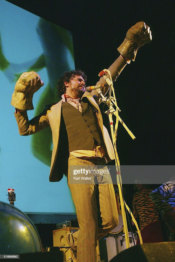 Wayne Coyne of the Flaming Lips performs at All Tomorrow's Parties at the Queen Mary on November 7, 2004 Los Angeles, California. The two day music festival was curated by Modest Mouse.
