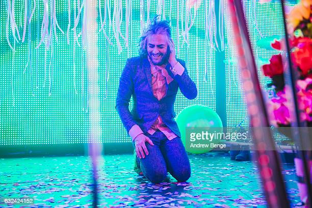 Wayne Coyne of The Flaming Lips performs at Manchester Academy on January 22 2017 in Manchester United Kingdom