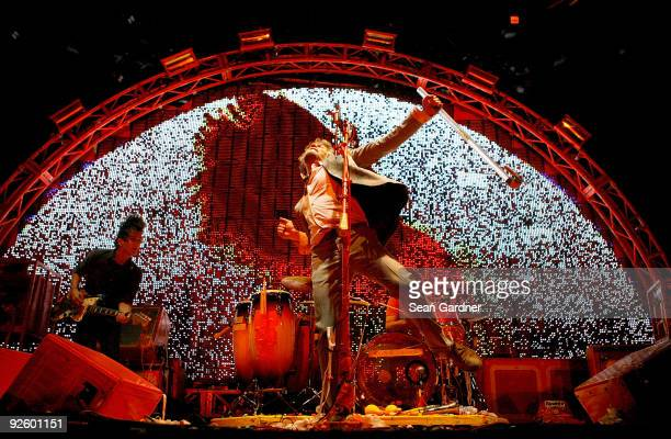 Wayne Coyne of The Flaming Lips performs at the 2009 Voodoo Experience at City Park on November 1 2009 in New Orleans Louisiana