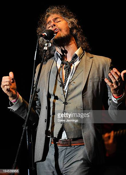 Wayne Coyne of The Flaming Lips performs at the 26th Annual Bridge School Benefit at Shoreline Amphitheatre on October 20, 2012 in Mountain View,...