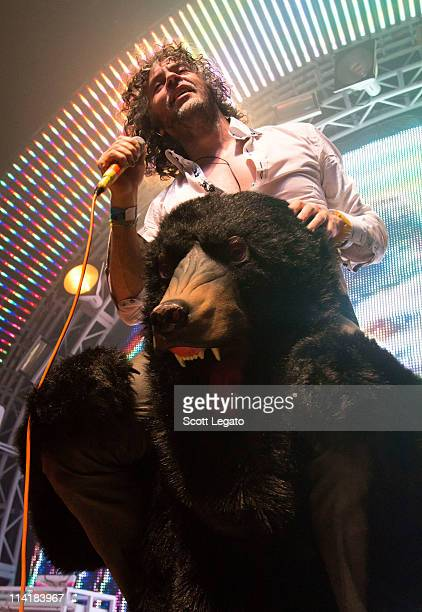 Wayne Coyne of The Flaming Lips performs at The Fillmore on May 13 2011 in Detroit Michigan